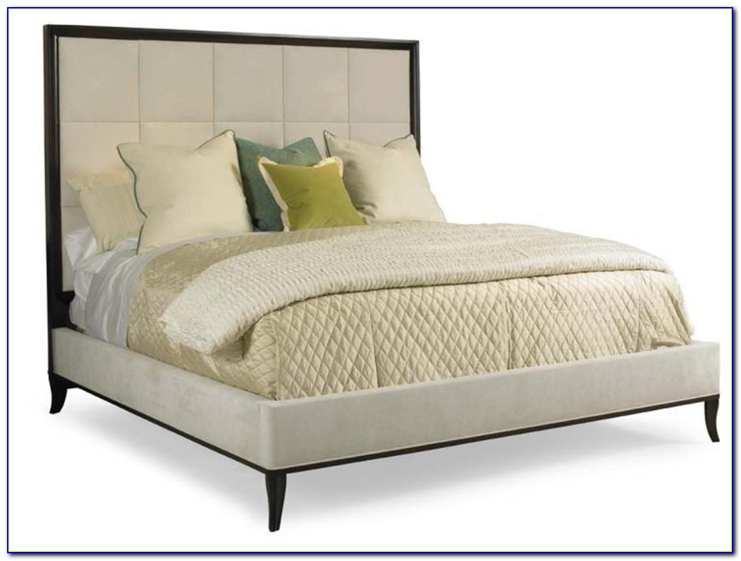 White Fabric King Size Headboard