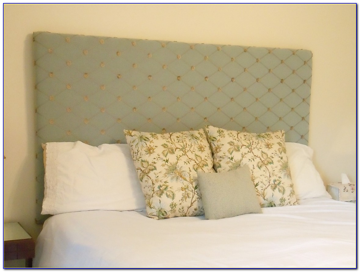 White Full Size Fabric Headboard