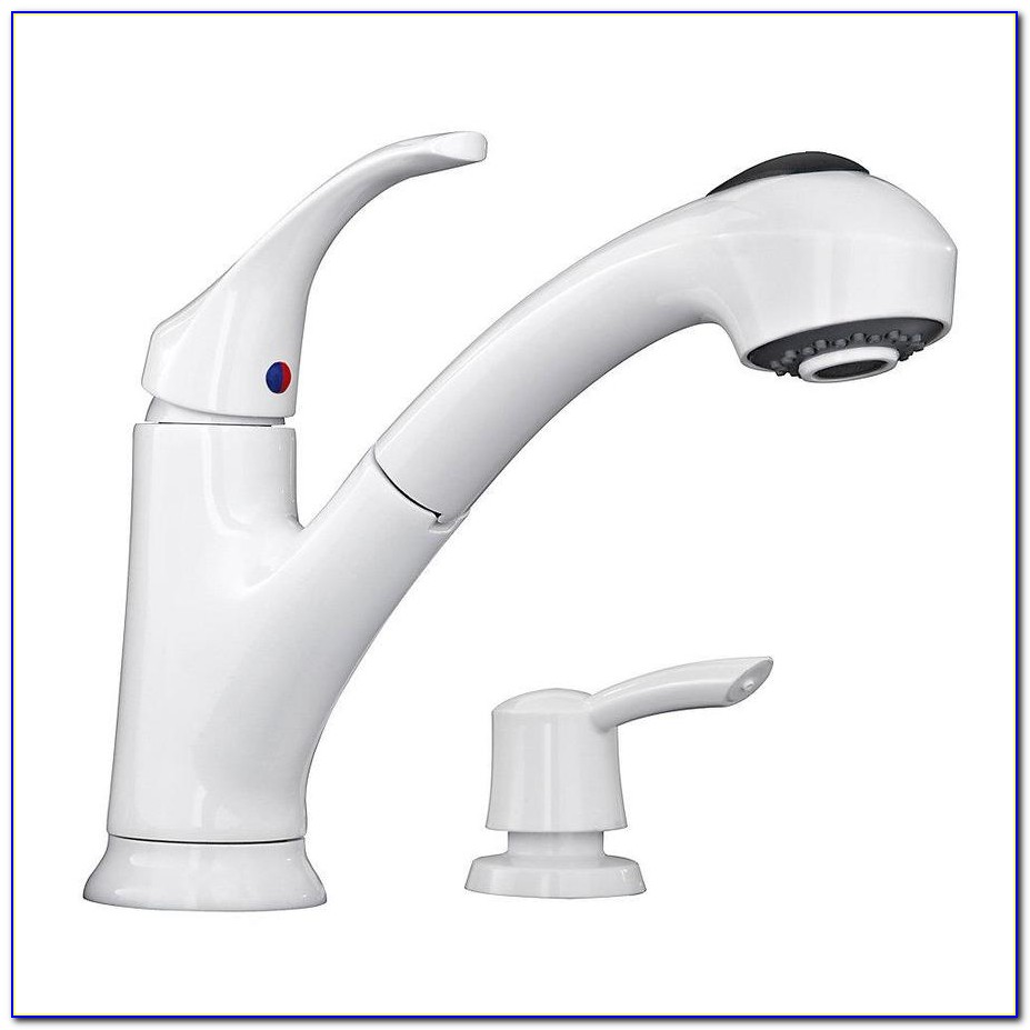 White Kitchen Faucets Pull Out