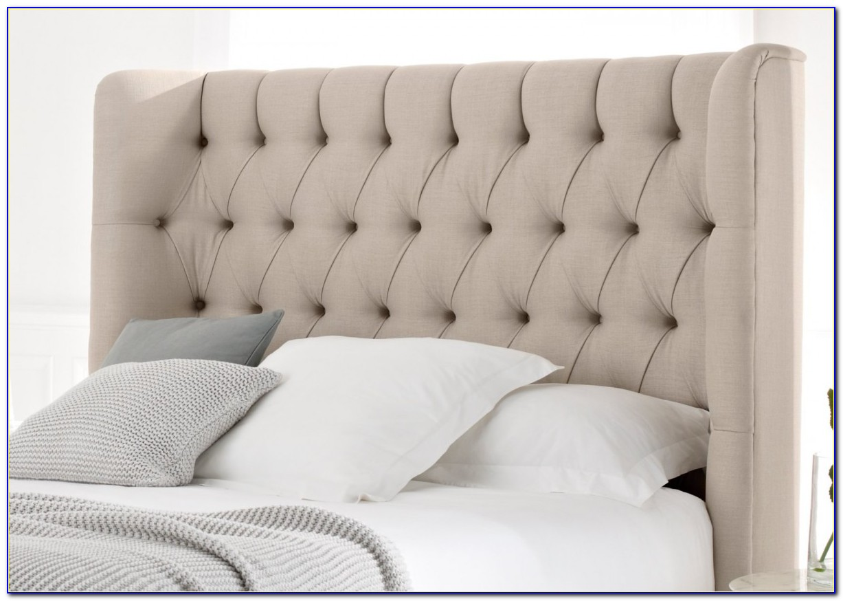 White Upholstered Headboard King Size