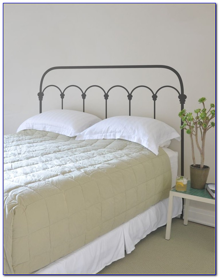 White Wrought Iron Headboard Queen