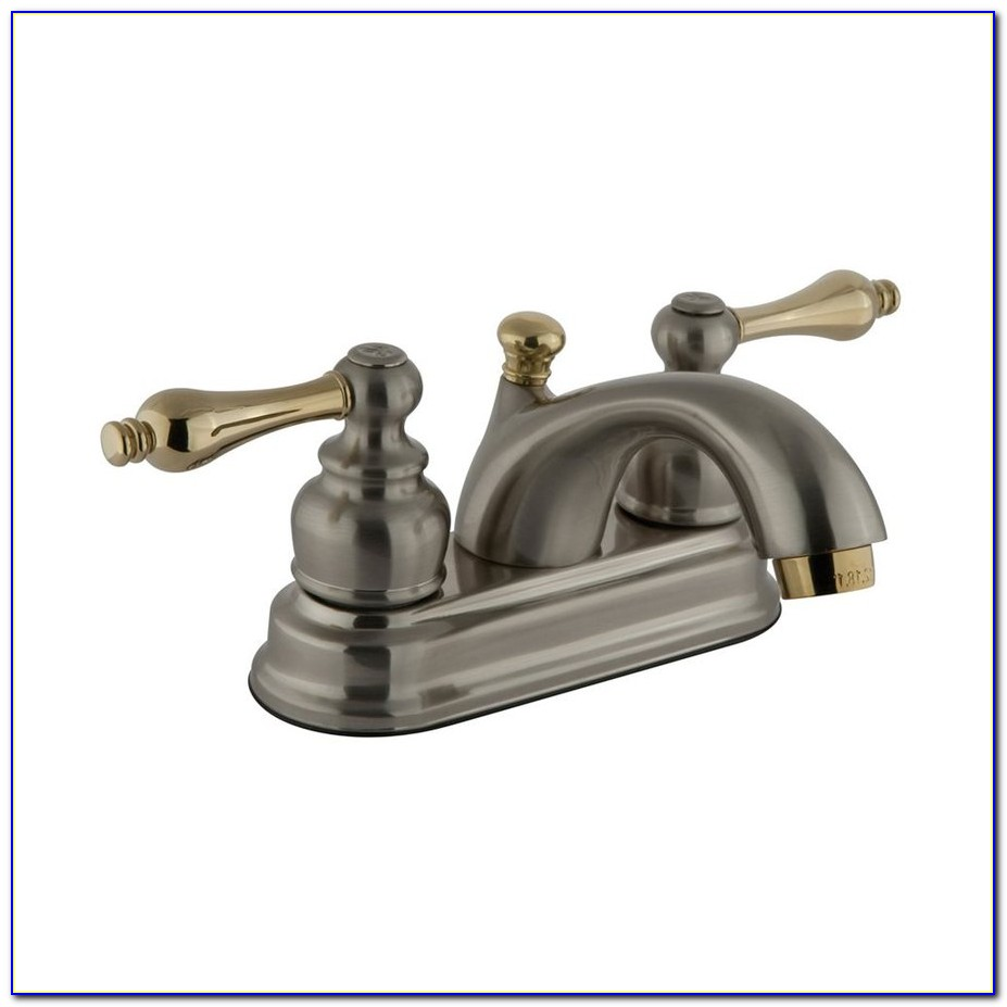 Widespread Bathroom Faucet Polished Brass