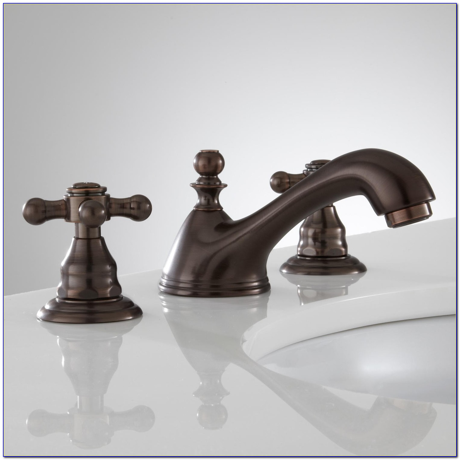 Widespread Bathroom Sink Faucet With Traditional Lever Handles