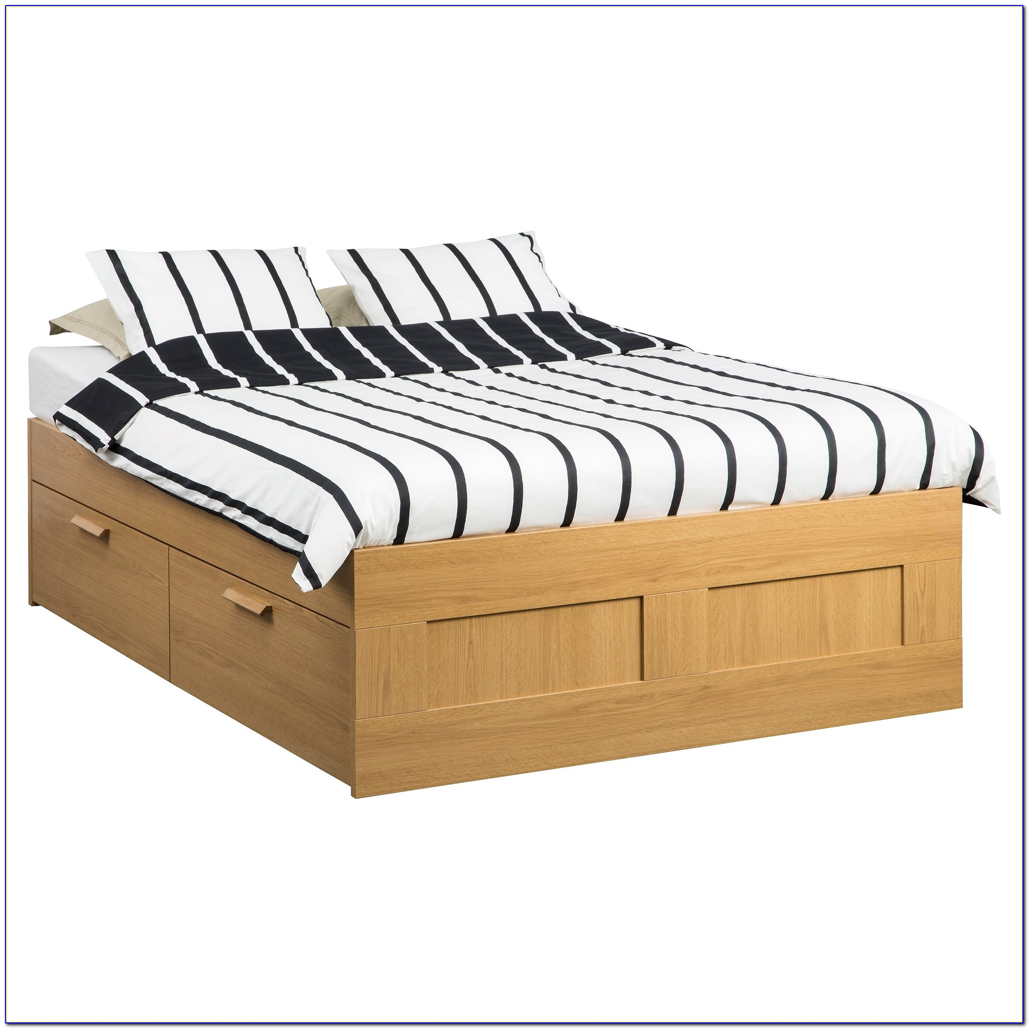 Wood Bed Frame King No Headboard