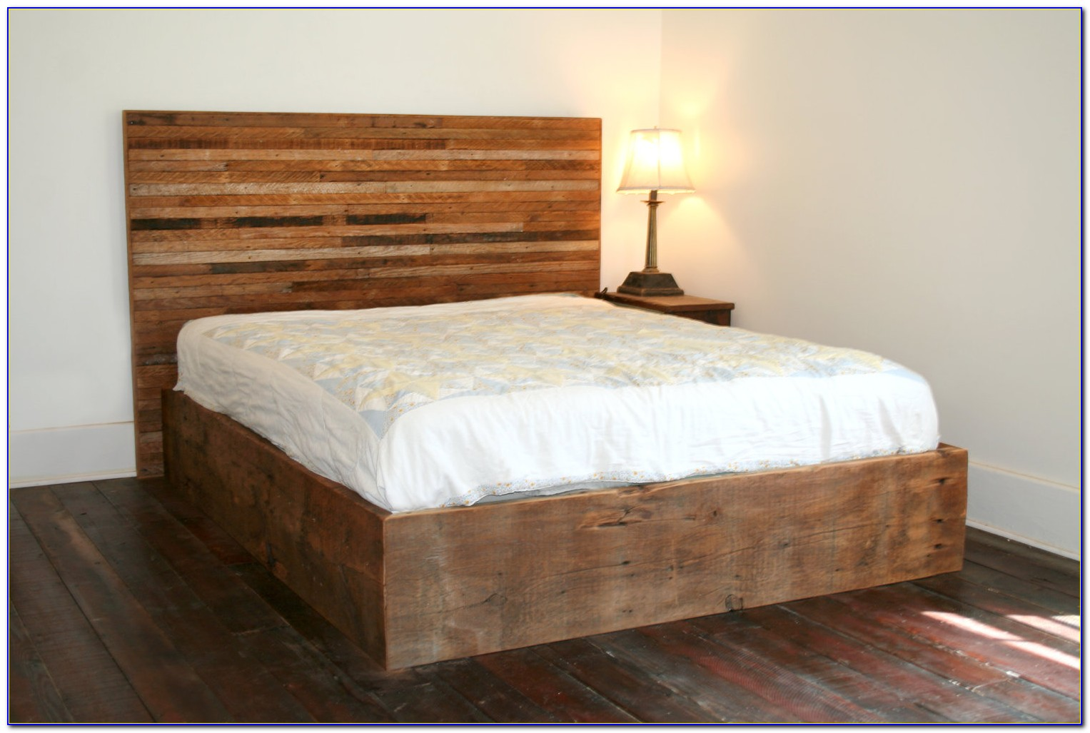 Wood Queen Bed Frame With Headboard