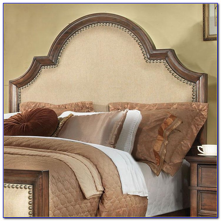 Wood Trimmed Upholstered Headboard