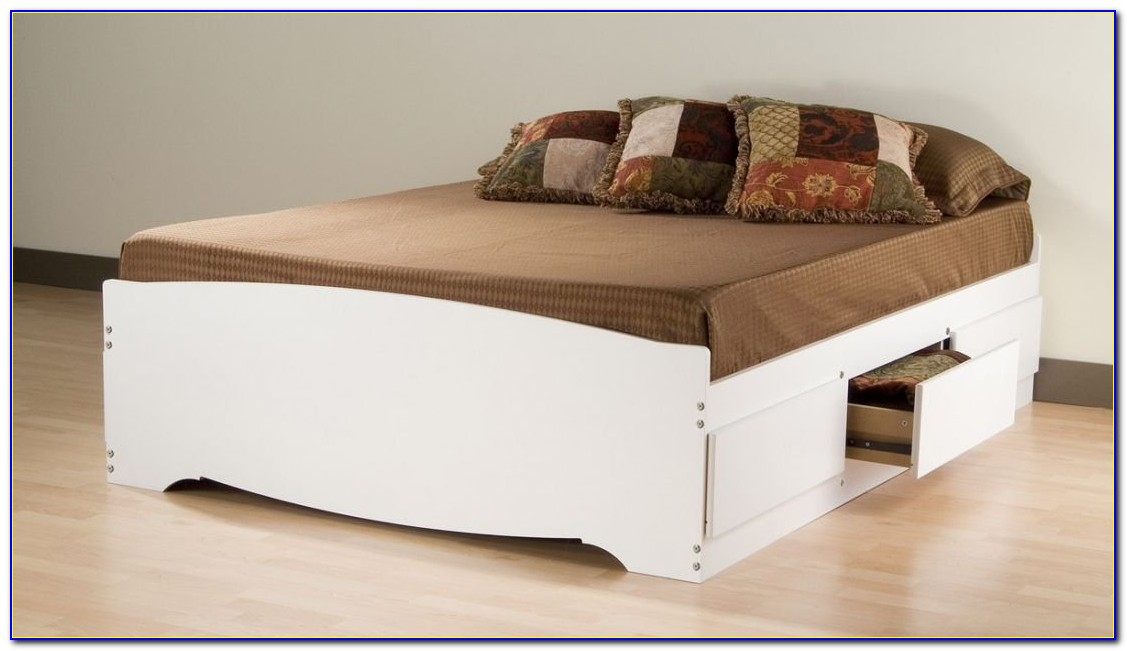 King Storage Bed No Headboard
