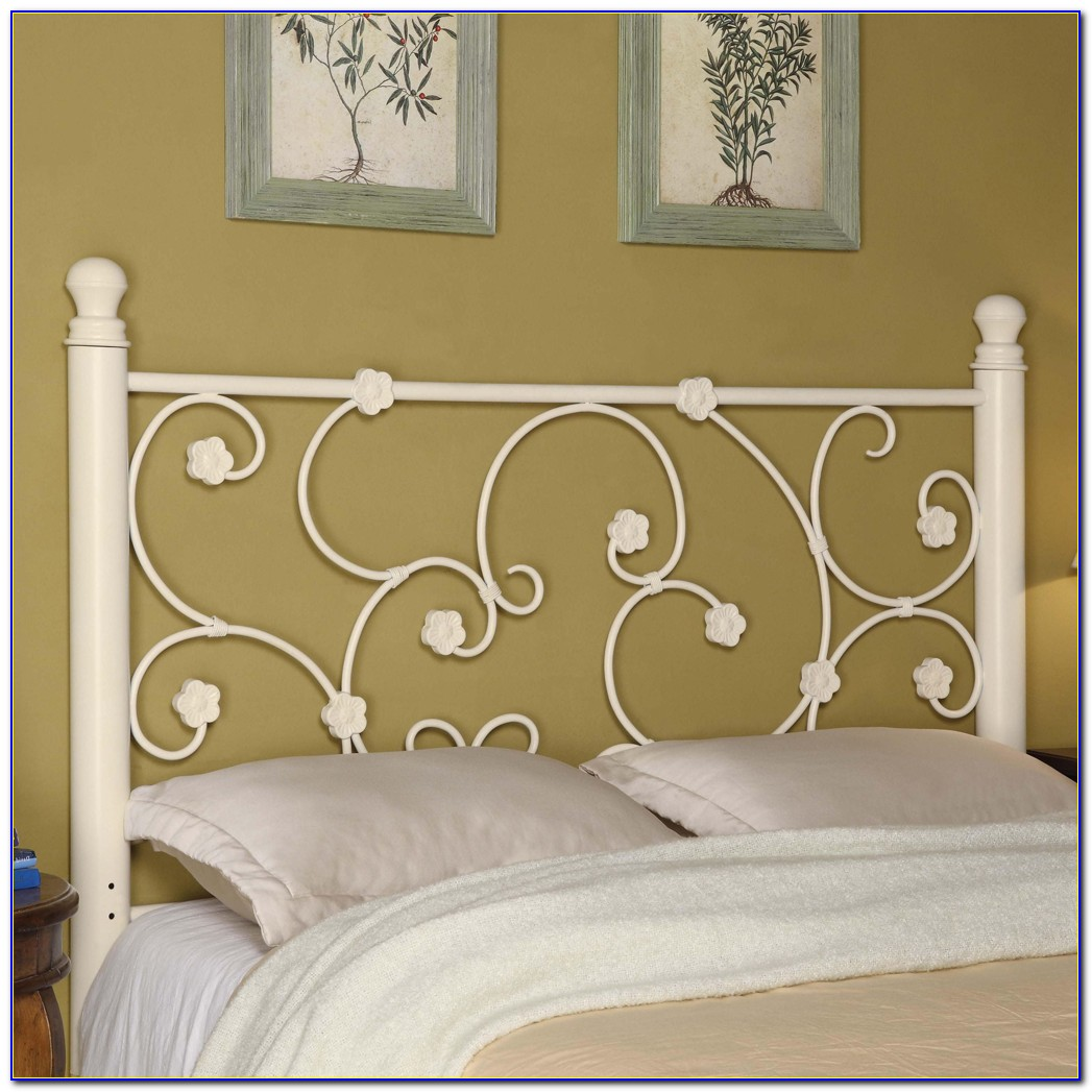 Queen Metal Bed Headboard Footboard