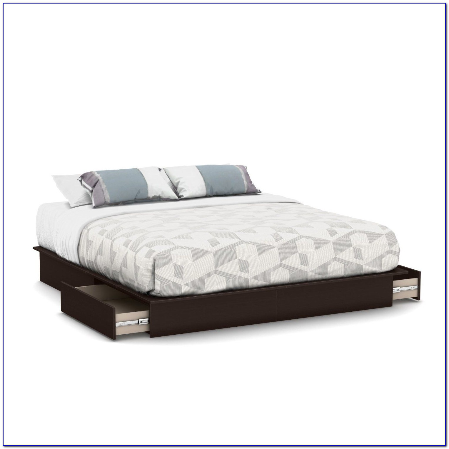 Queen Storage Bed No Headboard