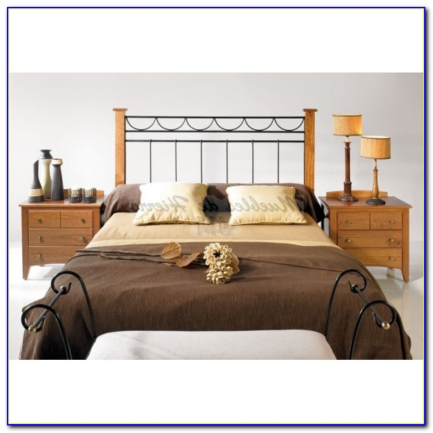 Rod Iron And Wood Headboards