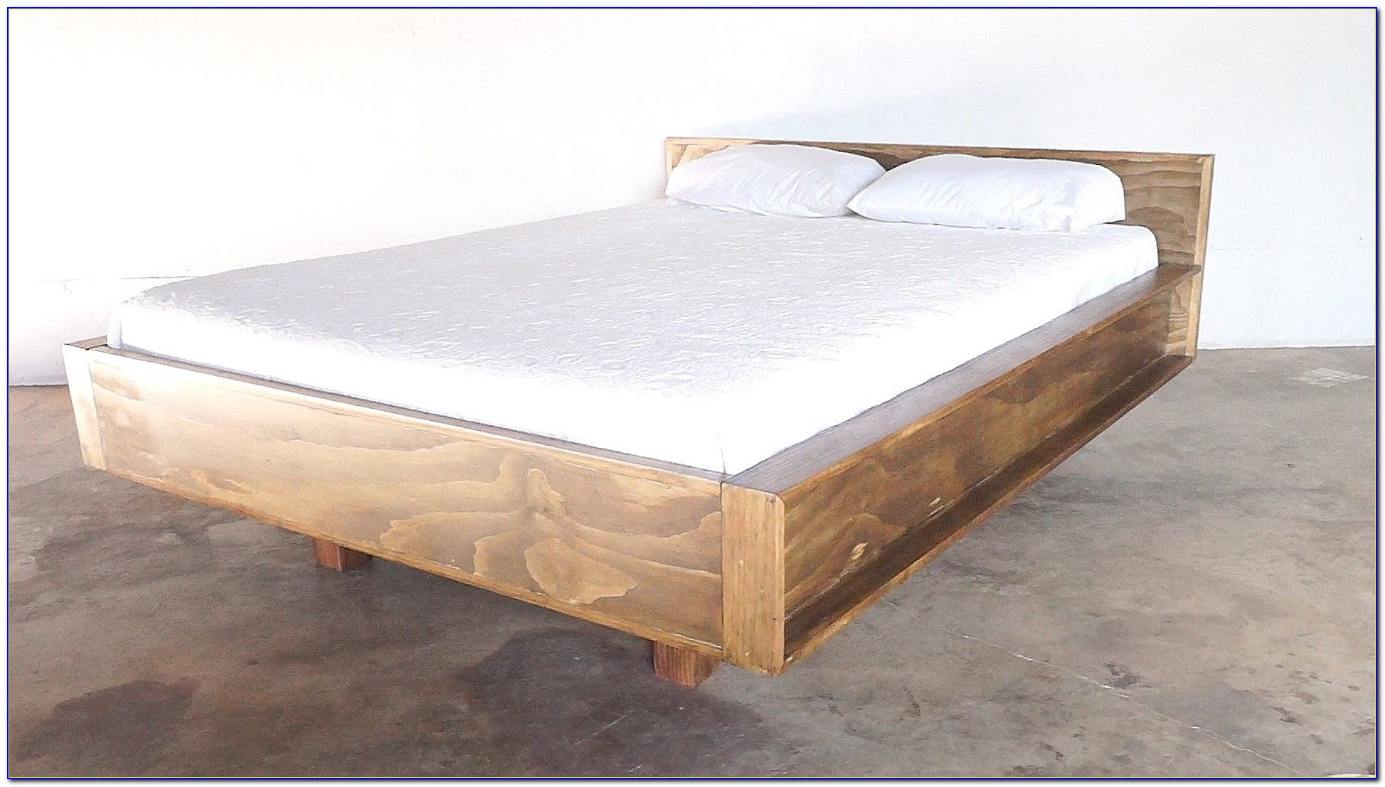 Solid Wood King Headboard And Footboard