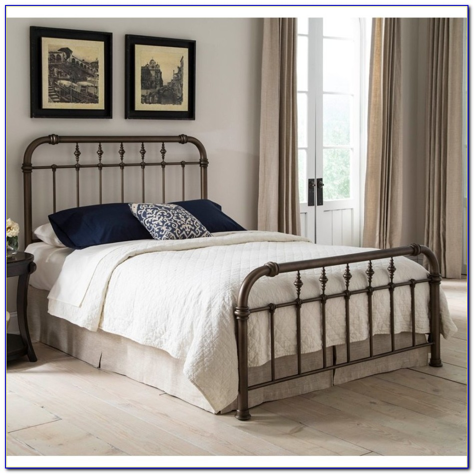 White Metal Queen Bed Headboard