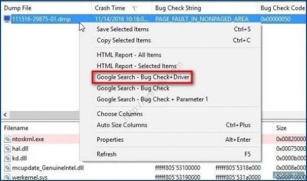 Tìm Google lỗi màn hình xanh