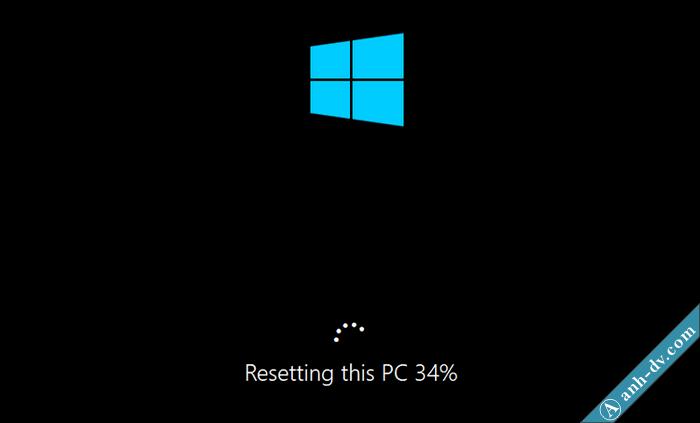 Quá trình Reset Windows 10