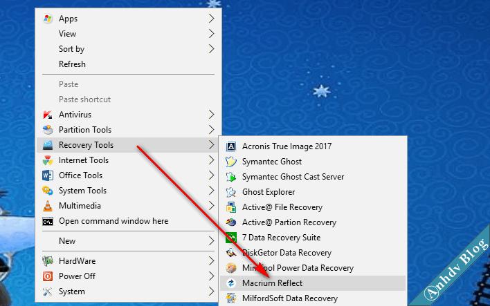 Khởi động Macrium Reflect trên Mini Windows 10
