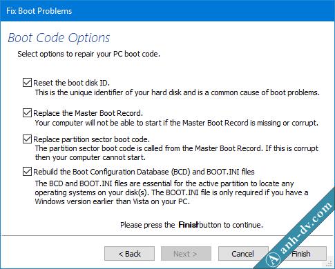 Sử lỗi BCD, Winload.exe, Winload.efi, Recovery bằng Macrium Reflect 2