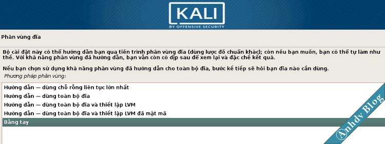 Cài đặt song song Kali Linux và Windows 10 - Phân vùng Manual