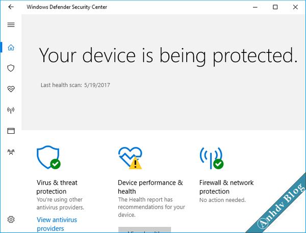 Phòng chống ransoware tống tiền - Windows defender