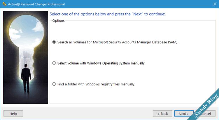 Reset mật khẩu Windows với Active Password Changer 2