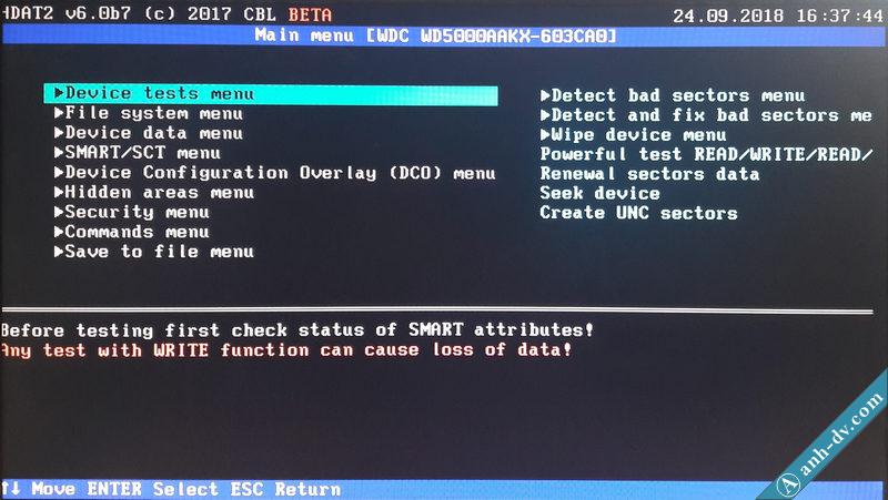 Sửa lỗi ổ cứng bị bad sector nặng với phần mềm HDAT2 5