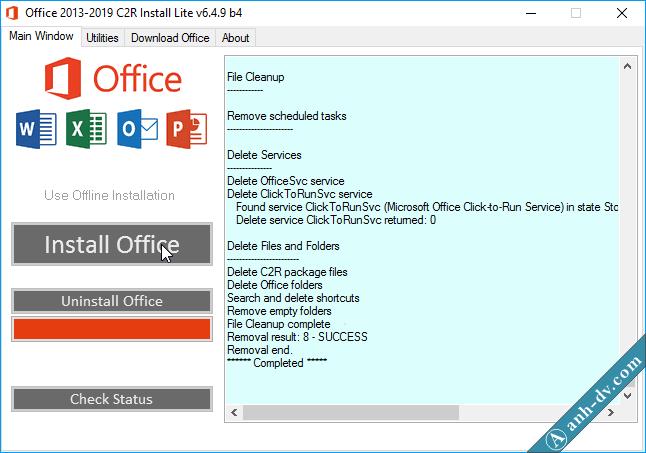 Sửa lỗi không gỡ bỏ được Microsoft Office với CR2 Install