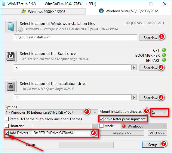 Hướng dẫn cách thêm driver usb 3.0, sata, nvme với WinNTSetup để sửa lỗi không nhận ổ cứng hay chuột và bàn phím