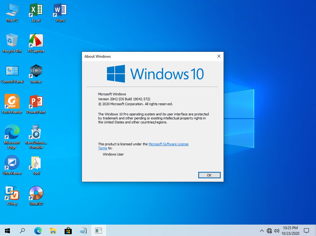 Desktop Windows 10 Pro 20H2 AIo 2 in 1 No Software, Full Software