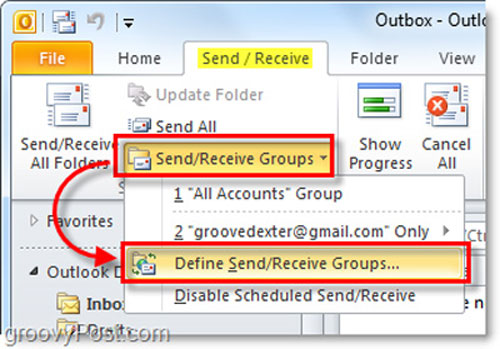 Đặt chế độ gửi – nhận email tự động trong Outlook 2010, Công nghệ thông tin, Che do gui email tu dong trong Outlook 2010, Outlook 2010, gui mail tu dong, mail, Outlook, vi tinh, internet