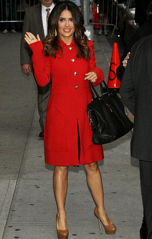 Sưởi ấm ngày đại hàn bằng áo khoác đỏ, Thời trang, ao khoac da do, ao khoac ngay dai han, thoi trang mua dong