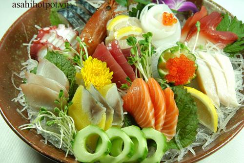Sashimi cá Hồi  - Hương vị tinh khiết tại Asahi Hot Pot, Nhà hàng Á - Âu, Ẩm thực,