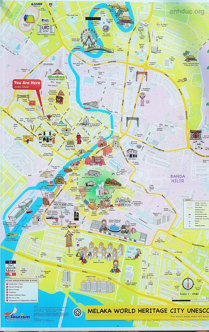 Malacca map tourist