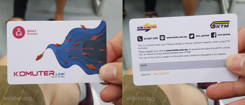 Thẻ đi tàu điện ở Malaysia