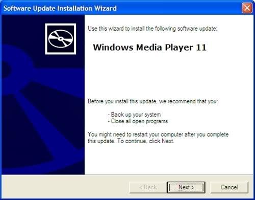 Cách cài đặt Windows Media Player 11 trên Windows XP không có bản quyền