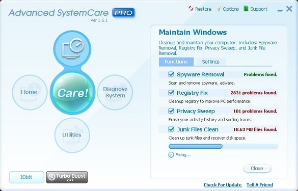 Advanced System Care Pro