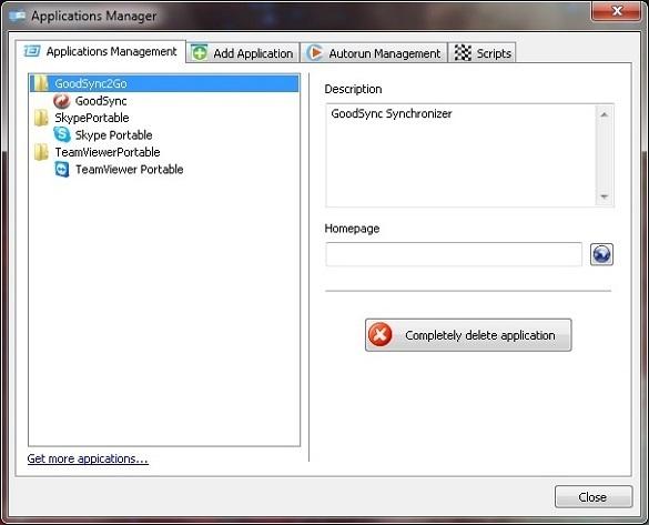 CodySafe - Tao menu cho USB