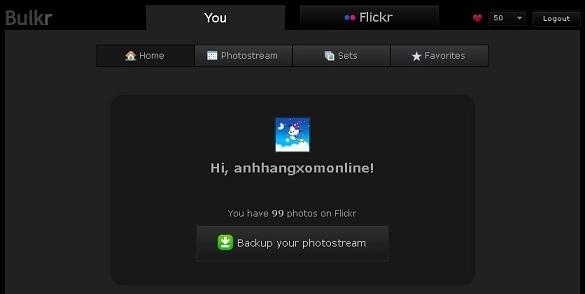 Bulkr - Tim kiem va tai anh tu Flickr