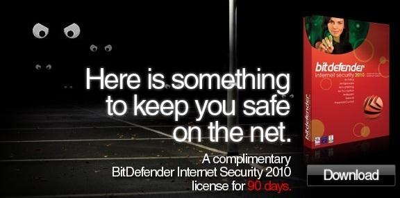 BitDefender Internet Security 2010 free 90 days