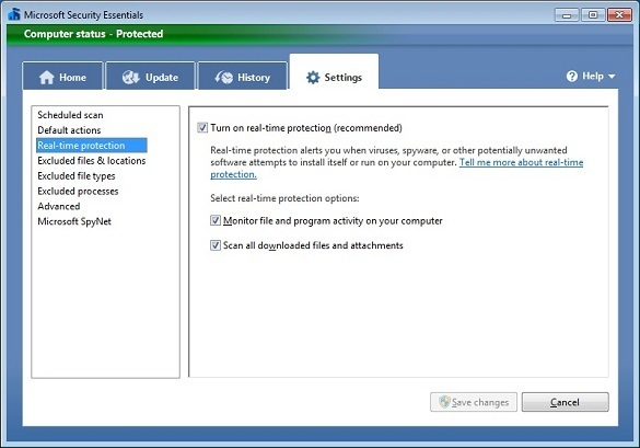 Microsoft Security Essentials beta 2