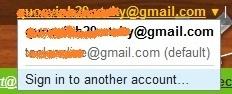 Dang nhap nhieu tai khoan Gmail