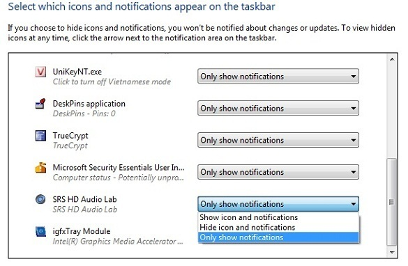 Notification Area Cleaner for Windows 7