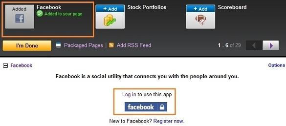 Nhúng Facebook vào Yahoo!Mail