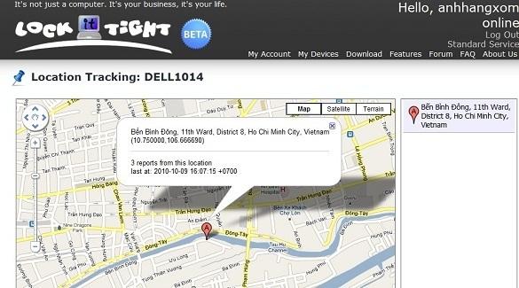 LockItTight – Theo dõi laptop bị đánh cắp