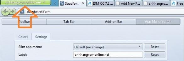 Stratiform - Thay đổi tên menu và các thiết lập khác cho Firefox 4