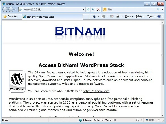BitNami - Set up WordPress on local computer