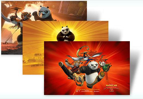 Kungfu Panda 2 và Angry Birds - Theme mới cho Win7