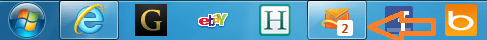 Hotmail notification in taskbar with IE9