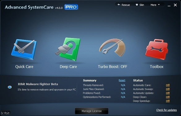 Advanced System Care 4 Pro - Nhận key bản quyền miễn phí