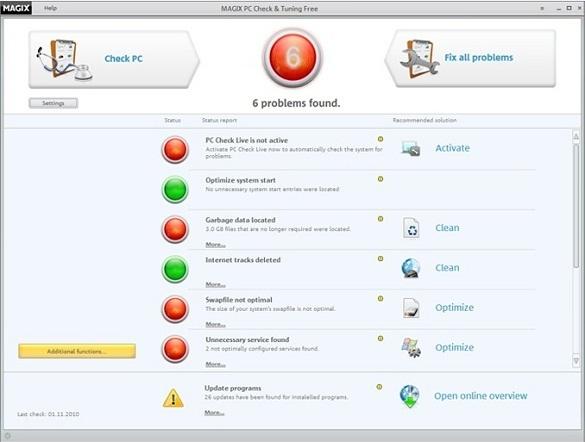 MAGIX PC Check & Tuning Free 2011
