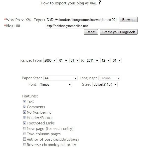 Biến blog WordPress/Blogger thành sách điện tử