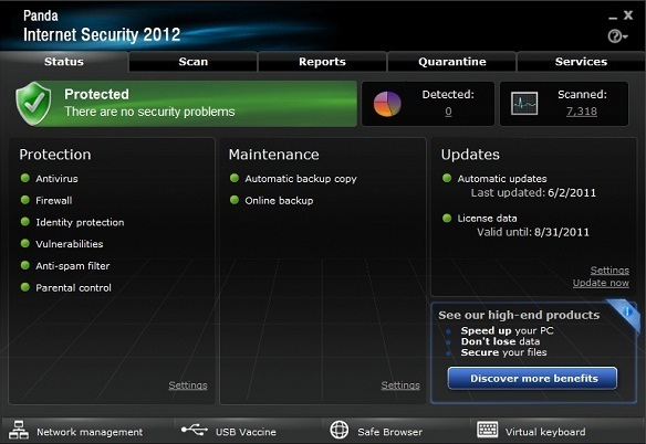 Panda Internet Security 2012 - BeAnywhere